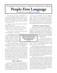 People First Language
