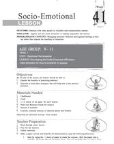 English African Core Curriculum - Socio-Emotional - 9 to 11 - Year 1