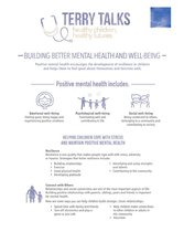 Terry Talks: Building Better Mental Health and Well-Being (Infographic)
