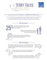 Terry Talks: Adolescent Brain Development (Infographic)