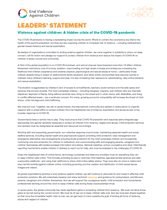 Ending Violence in a time of COVID-19 - Leader's Statement