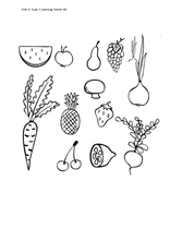 Supplemental Curriculum - Unit 6 - Fruits and Vegetables