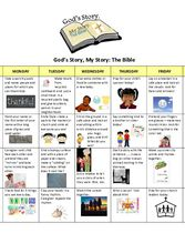 Supplemental Curriculum - Unit 2 - Ages 3 to 5 - Calendar God's Story, My Story: The Bible