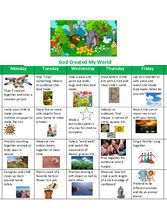 Supplemental Curriculum - Unit 5 - Calendar God Created My World