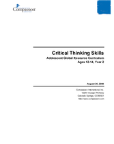 Critical Thinking Skills - Year 2