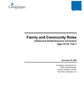 Family and Community Roles - Year 1