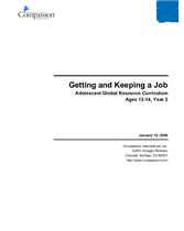 Getting and Keeping a Job - Year 2