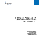 Getting and Keeping a Job - Year 1