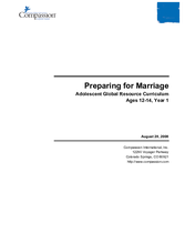 Preparing for Marriage - Year 1