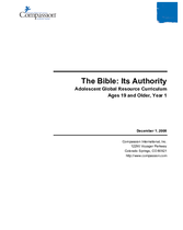 The Bible Its Authority - Year 1
