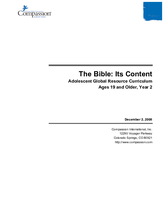 The Bible Its Content - Year 2