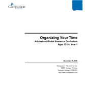 Organizing Your Time - Year 1