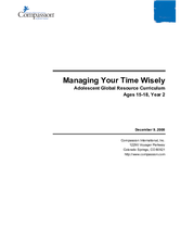 Managing Your Time Wisely - Year 2