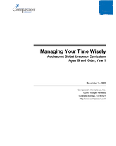 Managing Your Time Wisely - Year 1