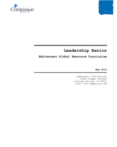 Adolescent Core Curriculum - Leadership - Leadership Basics
