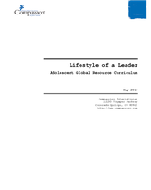 Adolescent Core Curriculum - Leadership - Lifestyle of a Leader