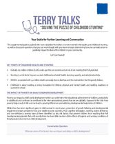 Terry Talks: Solving the Puzzle of Childhood Stunting (Discussion Guide)