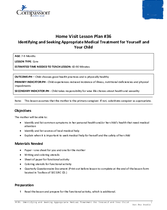 Document 18: HV36: Identifying and Seeking Appropriate Medical Treatment for Yourself and Your Child