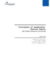 Principles of Leadership: Cherish Family