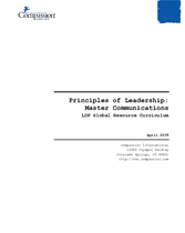Principles of Leadership: Master Communications