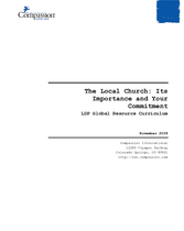 The Local Church – Its Importance and Your Commitment