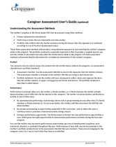 SEC Assessments and Questionnaires: Caregiver Assessment User's Guide