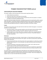 Document 10: Assessments and Questionnaires: Caregiver Assessment User's Guide
