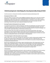 SEC Teaching and Curriculum Aide: Child Development – Identifying Developmental Delays