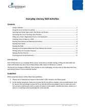 Document 7: Literacy Activity: Everyday Literacy Skill Activities