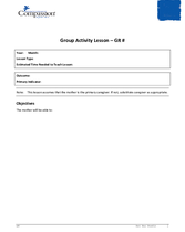 Document 19: Teaching and Curriculum Aide: Group Activity Lesson Plan Template