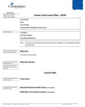 SEC Teaching and Curriculum Aide: Home Visit Lesson Plan Instructions