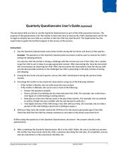 SEC Assessments and Questionnaires: Quarterly Questionnaire User's Guide