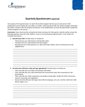Document 11: Assessments and Questionnaires: Quarterly Questionnaire