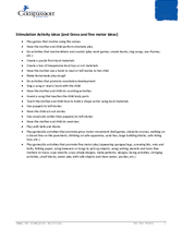 Document 24: Teaching and Curriculum Aide: Stimulation Activity Ideas