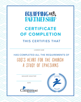 God's Heart for the Church Certificate