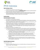 Example PPI Review Sheet: Indonesia