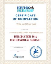 Introduction to a Developmental Mindset Certificate