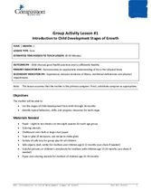 GR1: Introduction to Child Development Stages and Growth