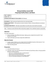 GR20: Preparing Healthy Menus and Meals