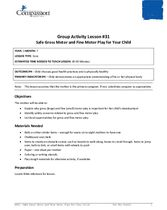 GR31: Safe Gross Motor and Fine Motor Play for Your Child