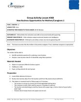 GR36B: New Business Opportunities for Mothers/Caregivers, Part 2