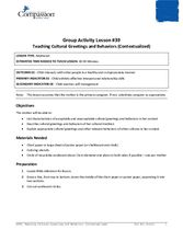 GR39: Teaching Cultural Greetings and Behaviors