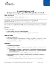 GR44B: Strategies for Saving Money and Micro-Enterprise Opportunities, Part 2