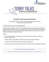 Terry Talks: Menstrual Hygiene Management (Discussion Guide)