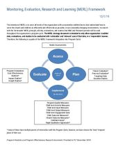 Monitoring, Evaluation, Research and Learning (MERL) Framework