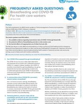 FAQ: Breastfeeding and COVID-19