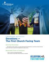 Devotions - The First Church Facing Team